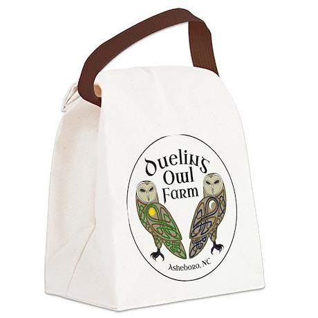 Dueling Owl Farm Logo Canvas Lunch Bag