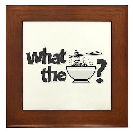 What the Pho? Framed Tile