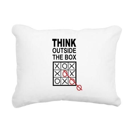 Think Outside the Box Rectangular Canvas Pillow