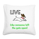 Jack russell terrier Square Canvas Pillows