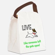 Live the gates open Canvas Lunch Bag