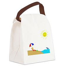 Summer Beach Canvas Lunch Bag