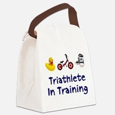 Triathlete in Training Canvas Lunch Bag