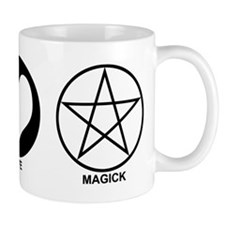 Peace Love and Magick on light Mug