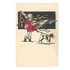 fox terrier holiday Postcards (Package of 8)