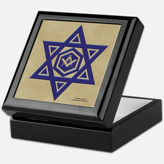 Masonic Star of David Keepsake Box