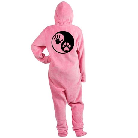 Human & Dog Yin Yang Footed Pajamas