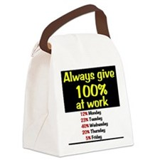 100% Canvas Lunch Bag