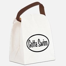 Gotta Swim Oval Canvas Lunch Bag