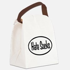 Hate Sucks Oval Canvas Lunch Bag