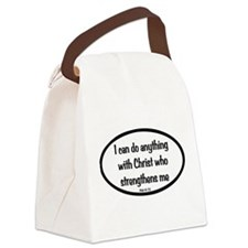 I can do anything Oval Canvas Lunch Bag