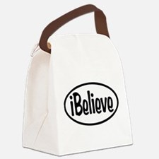 iBelieve Oval Canvas Lunch Bag