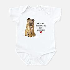 Brussels Griffon Heart Infant Creeper