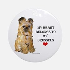 Brussels Griffon Heart Ornament (Round)