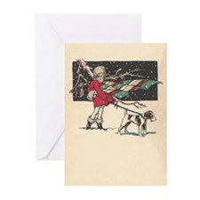 fox terrier holiday blank Greeting Cards (Pk of 20