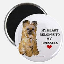 Brussels Griffon Heart Magnet