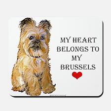 Brussels Griffon Heart Mousepad