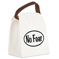 No Fear Oval Canvas Lunch Bag