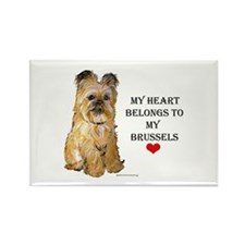 Brussels Griffon Heart Rectangle Magnet (10 pack)