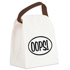 Oops! Oval Canvas Lunch Bag