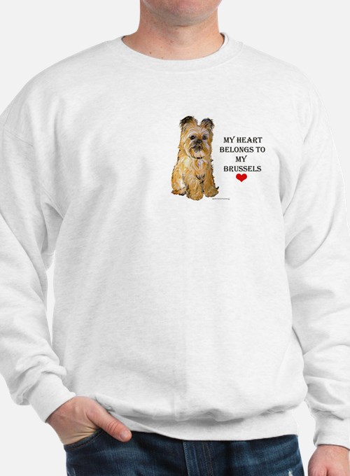Brussels Griffon Heart Sweatshirt