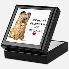 Brussels Griffon Heart Keepsake Box