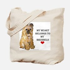 Brussels Griffon Heart Tote Bag