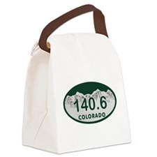 140.6 Colo License Plate Canvas Lunch Bag