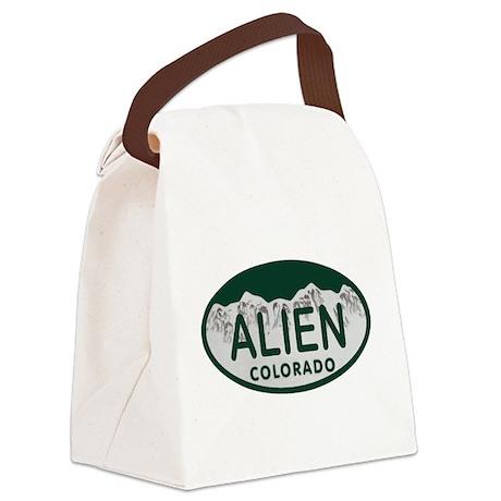 Alien Colo License Plate Canvas Lunch Bag