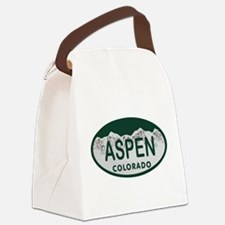 Aspen Colo License Plate Canvas Lunch Bag