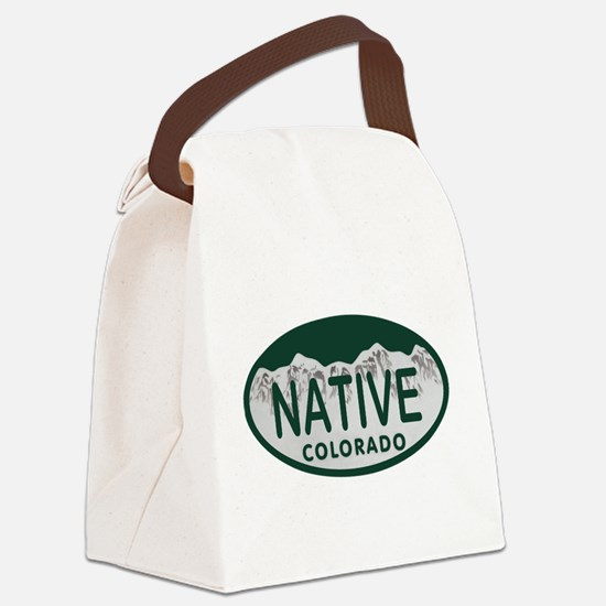 Native Colo License Plate Canvas Lunch Bag