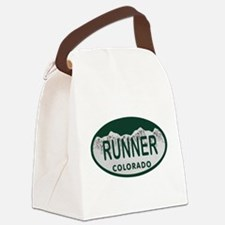 Runner Colo License Plate Canvas Lunch Bag