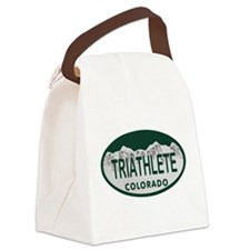Triathlete Oval Colo License Plate Canvas Lunch Ba