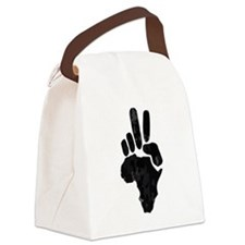 African Peace Canvas Lunch Bag