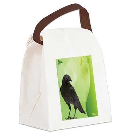 Green Crow Canvas Lunch Bag