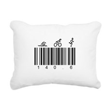 Bar Code 140.6 Rectangular Canvas Pillow