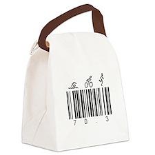 Bar Code 70.3 Canvas Lunch Bag