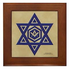 Masonic Star of David Framed Tile