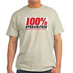 STEROID FREE Ash Grey T-Shirt