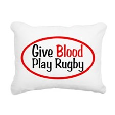 Give Blood_Rugby.png Rectangular Canvas Pillow