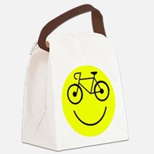 Smiley Cycle Canvas Lunch Bag
