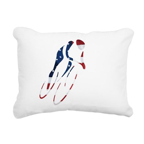 USA Cycling Rectangular Canvas Pillow