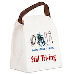 Still Tri-ing Canvas Lunch Bag