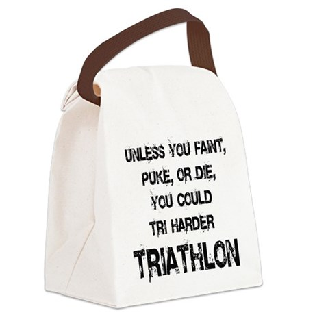 Tri Harder Canvas Lunch Bag