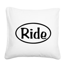 Ride Oval Square Canvas Pillow
