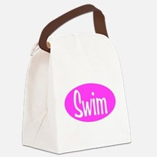 Swim Pink Oval Canvas Lunch Bag