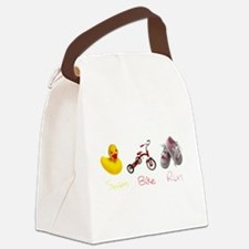Baby Girl Tri Canvas Lunch Bag