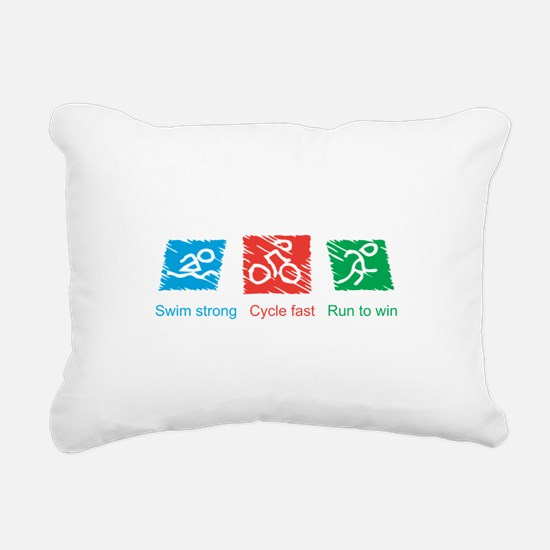 Swim Strong, Cycle Fast, Run to Win Rectangular Ca