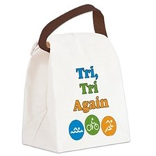 tri, tri again Canvas Lunch Bag