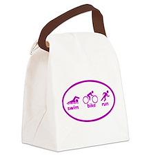 Swim Bike Run Canvas Lunch Bag